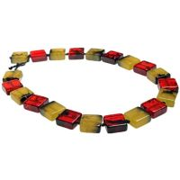 Jackie Brazil Liquorice Half cube necklace in Tortoise Mix|Oxfordshire Jewellery Boutique